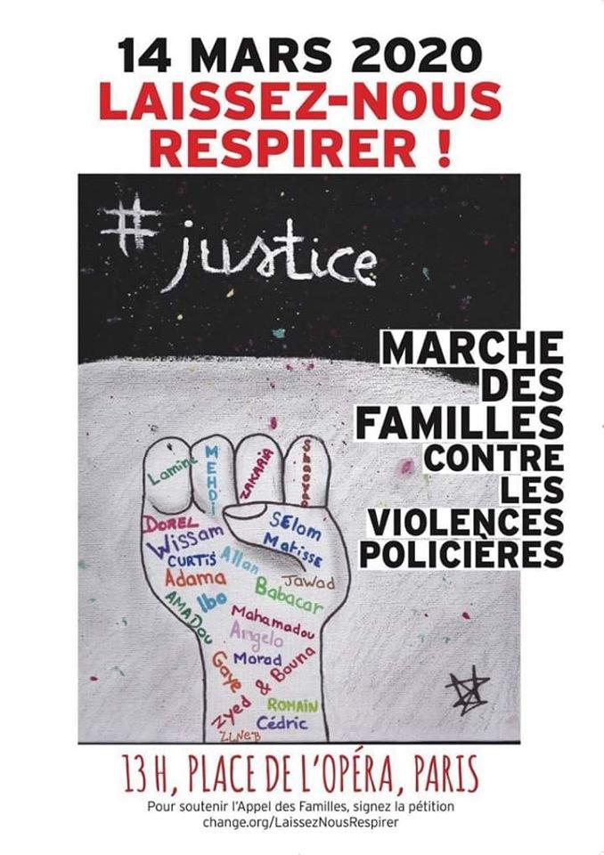 Affiche de la Marche des familles